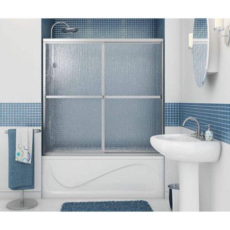 Maax Air Tubs - MAAX 105410-970-084-000 Polar Framed Sliding Tub Door with Raindrop Glass, Chrome