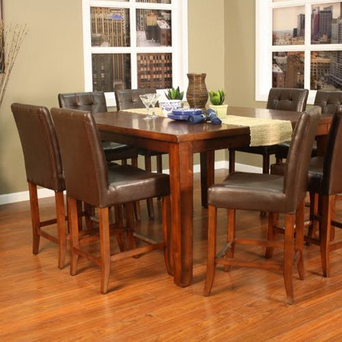 AHB Cameo 9 pc. Counter Height Set with Hancock Stools