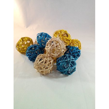 Decorative Spheres Blue Yellow And Cream Rattan Ball Vase Filler Amazing Rattan Decorative Balls