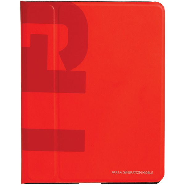 GOLLA G1375 iPad(R) with Retina(R) display/iPad(R) 3rd Gen/iPad(R) 2 Slim Folder (Jerome; Red)