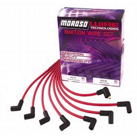 Moroso Ready Install Plug Wires StdCap/Under Header/Red