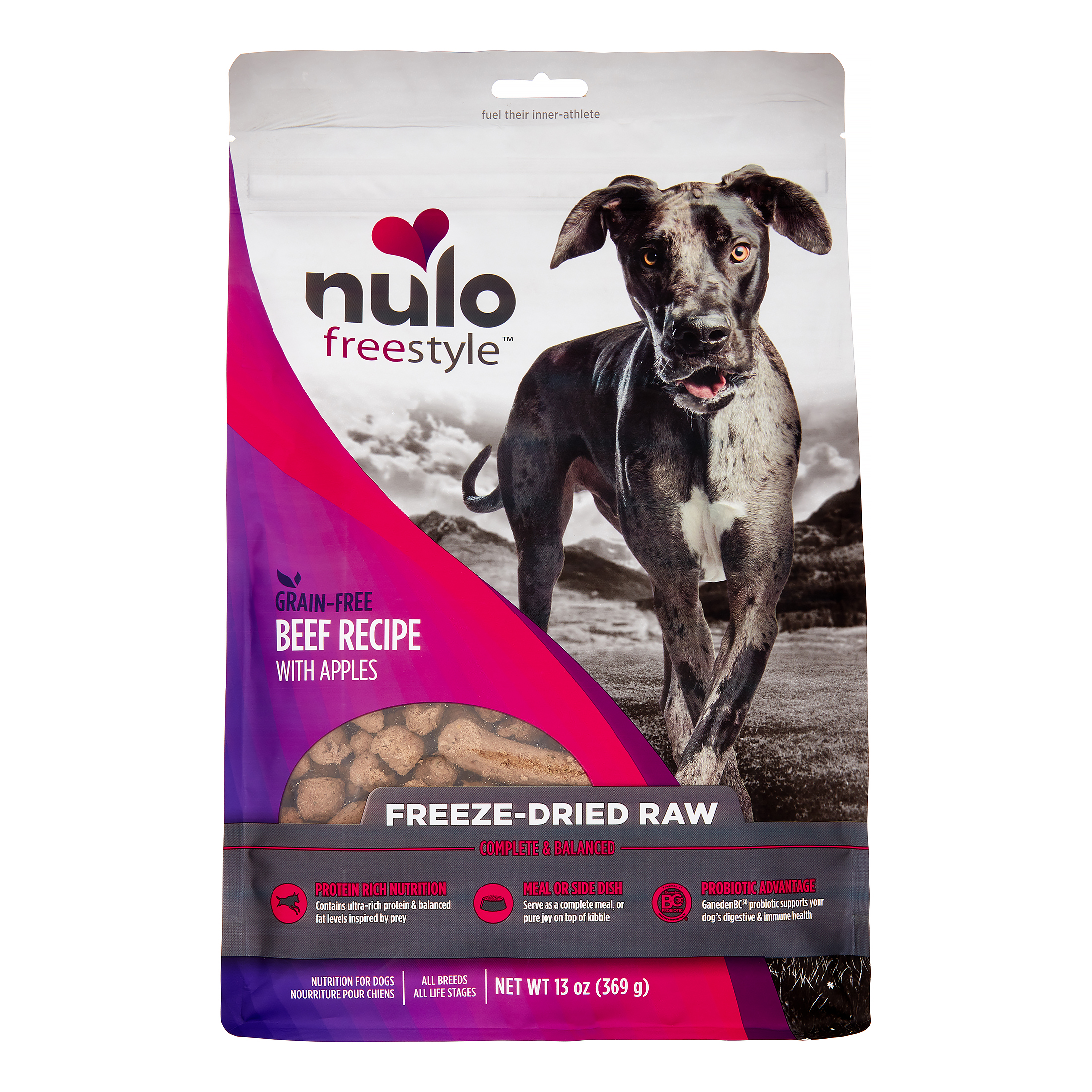 Nulo FreeStyle Freeze-Dried Beef Dog Food, 13 Oz
