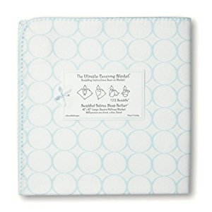 Swaddle Designs Ultimate Receiving Blanket, Pastel Pink Mod on White