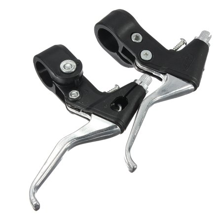 Right Brake Handle - 1 Pair Cycling Brake Levers Durable and Light MTB BMX Bike Bicycle Aluminum Linear Left & Right