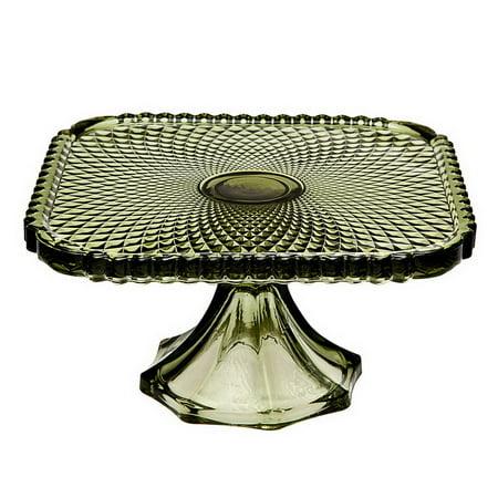 Godinger 34148 Belmont 8 Green Sq Cake Plate (Godinger Tiered Stand)