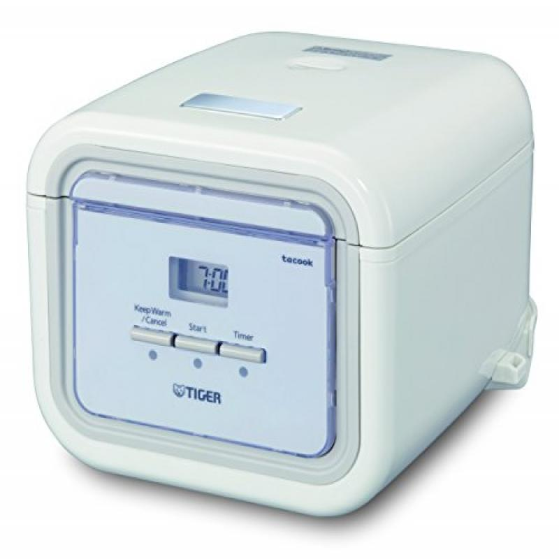 Tiger Corporation JAJ-A55U-WS 3-Cup Micom Slow Rice Cooker and Bread Maker - White