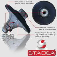 "diamond radius profile wheel bits - Profile Grinding Wheel Radius Demi 1"" B25 For Granite Marble Stone Concrete Shaping/Diamond Profiling By STADEA"