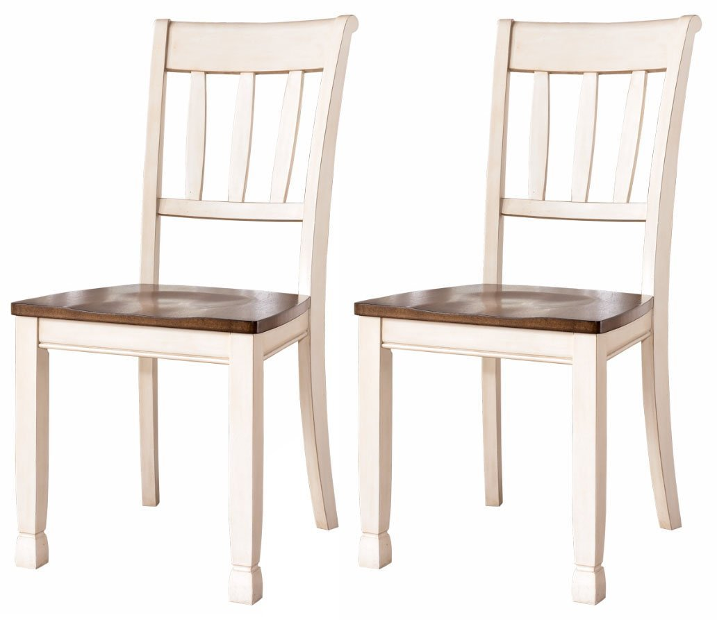 Ashley Furniture Signature Design   Whitesburg Dining Room Side Chair Set   Vintage  Casual   Set Of 2   Two Tone   Walmart.com