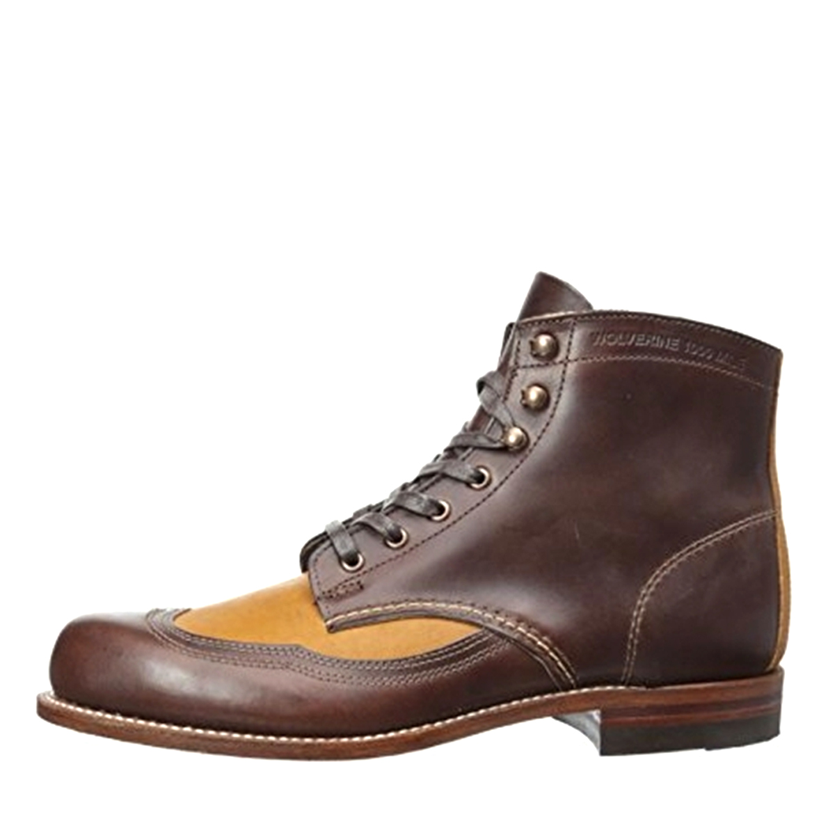 Wolverine Men's Addison 1000 Mile Wingtip Boots W06000 Brown Tan by