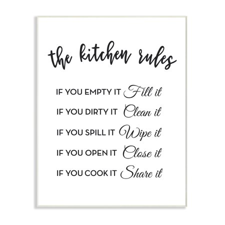 The Stupell Home Decor Collection The Kitchen Rules If You… Wall Plaque Art