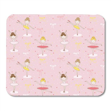 LADDKE Girl Cute Ballerina in Pattern Romantic Baby Craft Dance Mousepad Mouse Pad Mouse Mat 9x10 - Baby Moses Craft