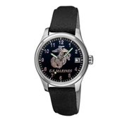 US Marines Leather Logo Watch