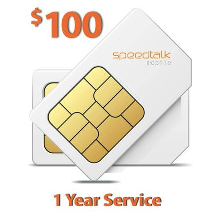 $100 Prepaid SIM Card for GSM GPS Tracker Pet Senior Kid Child Car Smart