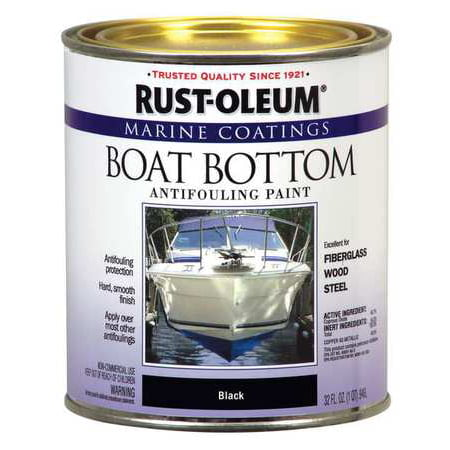 Rust-Oleum 207012 Blk Boat Bottom Antifouling Paint,