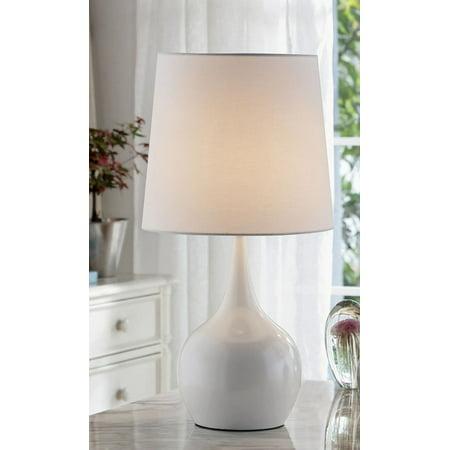 "23.5"" NIYOR POWDER WHITE MID-CENTURY MODERN TOUCH ON METAL TABLE LAMP"