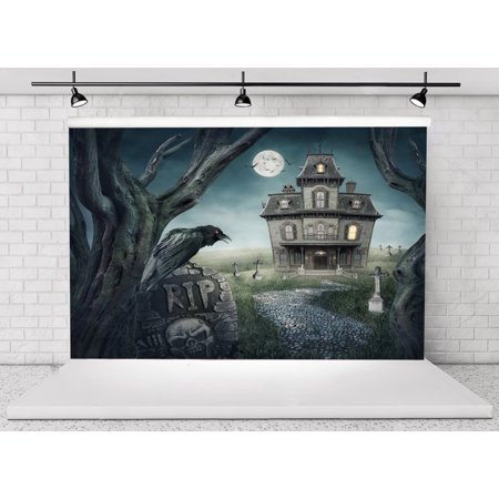 GreenDecor Polyster 7x5ft Halloween Horror Nights Moon Mysterious Castle Costume Party Masquerade Decoration Photo Backdrops Studio Background Studio Props - Masquerade Backdrop