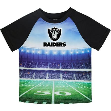 Toddler Gerber Black Oakland Raiders Stadium T-Shirt (Oakland Raiders Shirt)