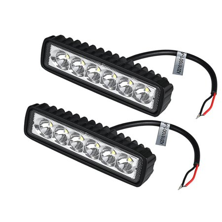 2Pcs/Lot 18W LED Work Light Bar Car Truck Boat Driving Lamp Off-road SUV Spot Daytime Running Lights ()