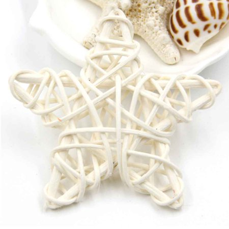 Holiday Time 5pcs Five Star 6cm Rattan Plaited Vine Christmas Birthday Home Wedding Party Decorations Diy Ornaments