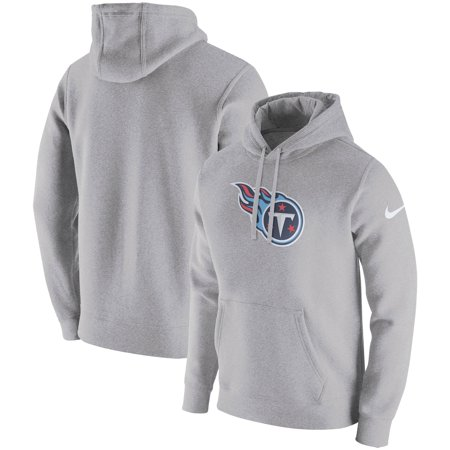 Tennessee Titans Nike Club Fleece Pullover Hoodie - Heathered Gray