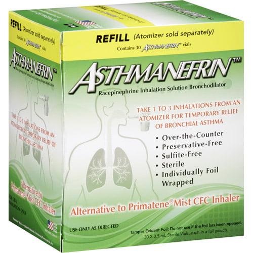 Asthmanefrin Racepinephrine Inhalation Solution Bronchodilator Refill Vials, 30 count