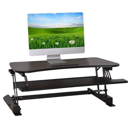 Latitude Run Pamela Living Height Adjustable Monitor Riser Standing Desk