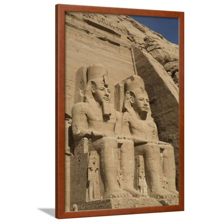 Colossi of Ramses Ii, Sun Temple, Abu Simbel, Egypt, North Africa, Africa Framed Print Wall Art By Richard -