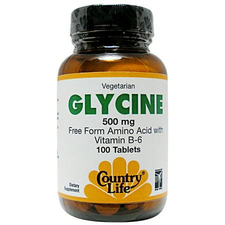 Glycine 500 mg de vitamine B-6 par