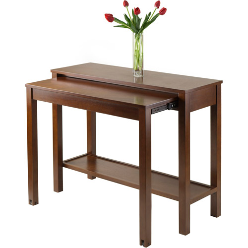 Lovely Brandon Expandable Console Table, Antique Walnut Pictures Gallery