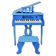 30-Key Two Tone Blue Digital Baby Grand Piano & Be - Pink