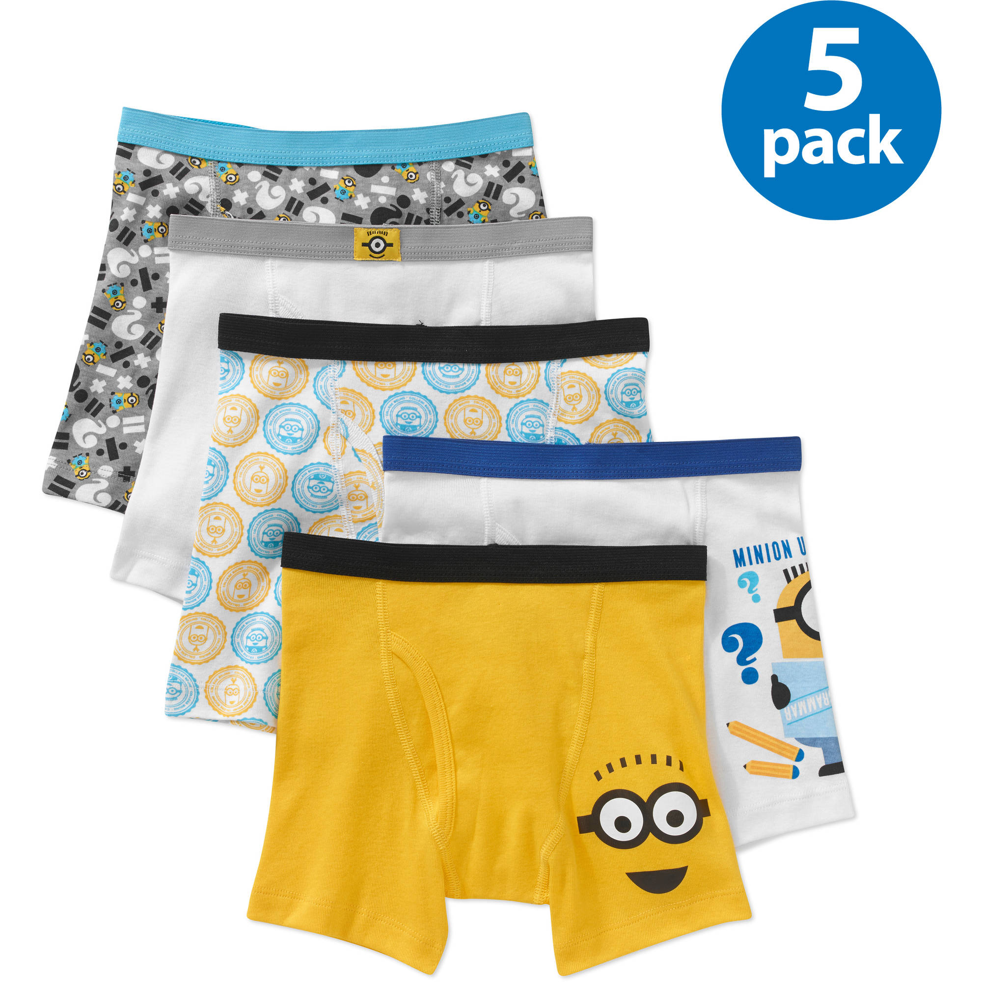 Despicable Me Boys Boxer Brief, 5 Pack