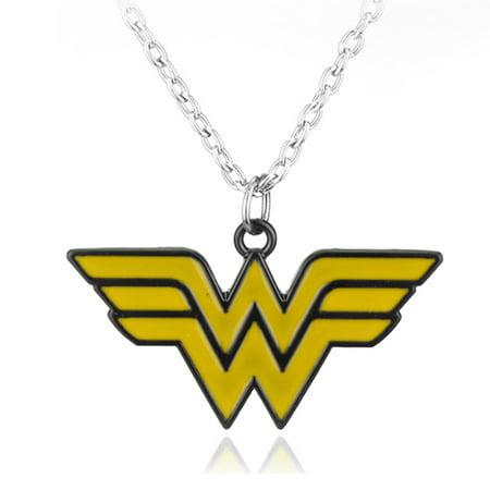 Wonder Woman Necklace Tarnish Resistant Charm Superhero Necklace Woman's Jewelry J-209 (Female Superheroes Names)