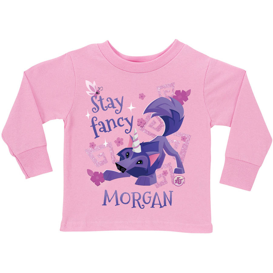 Personalized Animal Jam Stay Fancy Pink Long Sleeve Tee, Youth, Pink