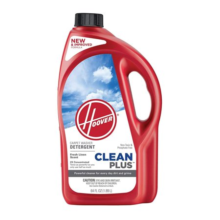 Hoover Carpet Cleaner and Deodorizer, Cleanplus 2X Concentrated Formula 64 oz Shampoo #