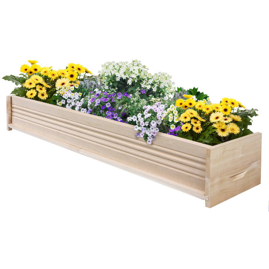 Greenes Fence 48 Inch Long Reversible Cedar Wood Planter Box by Greenes Fence Company Inc