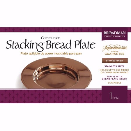 Communion-RemembranceWare-Bronze Stacking Bread Plate (Stainless