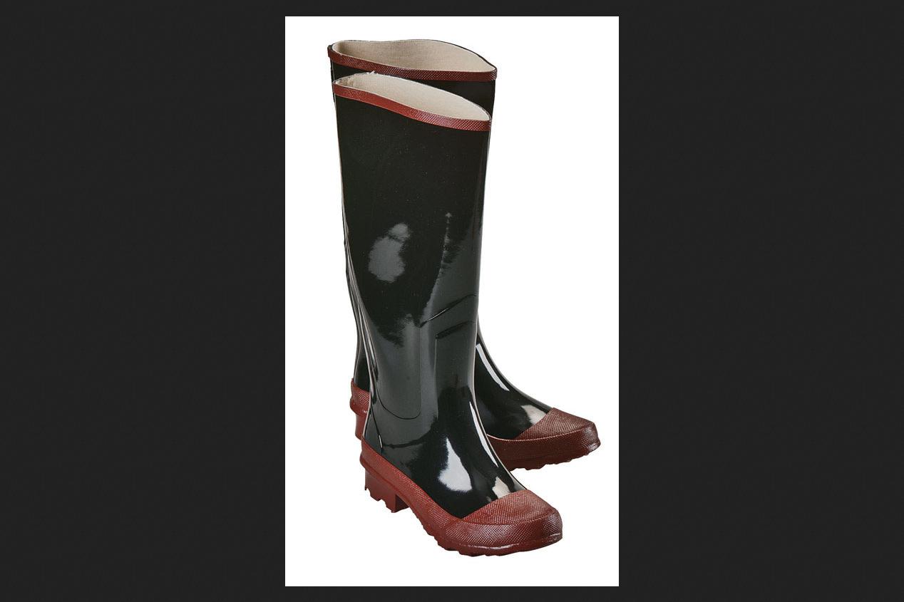 Boulder Creek Steel Shank Boots Men's Size 9 Black/Red