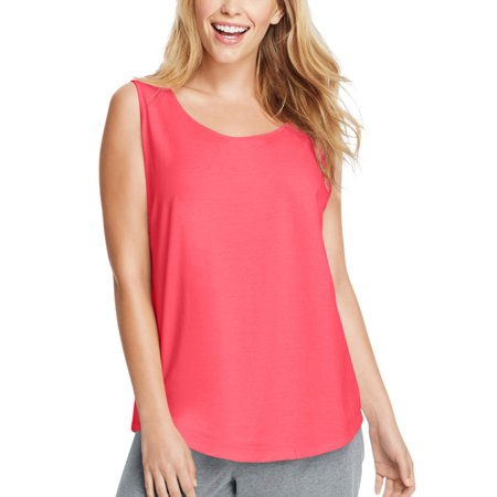 by Hanes Women's Plus Size Shirttail Tank - Plus Size Corsette