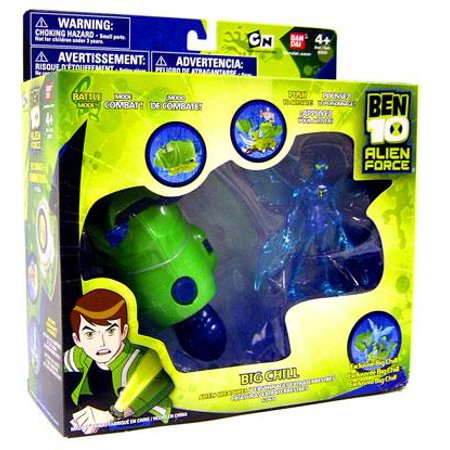 Ben 10 Alien Force Alien Creatures Big Chill Action Figure Set [Clear] ()