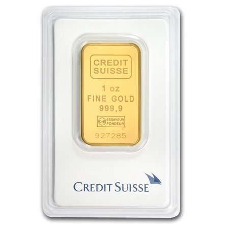 1 Oz Gold Bar   Credit Suisse  In Assay