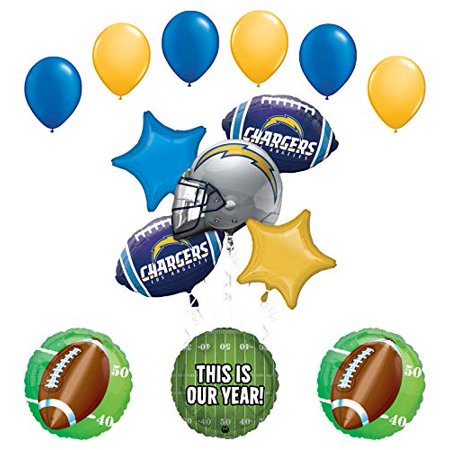 Mayflower Products Chargers Football Party Supplies This is Our Year Balloon Bouquet - Chargers Decorations