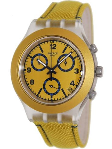 Swatch Mustardy Chronograph Unisex Watch SVCK4069