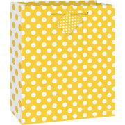 (3 Pack) Yellow Polka Dot Gift Bag