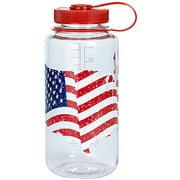 Nalgene BPA Free Tritan Wide Mouth Water Bottle, 32 Ozs, Usa Flag