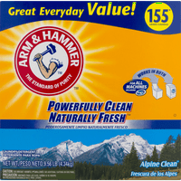 Arm & Hammer Powder Laundry Detergent, Alpine Clean, 155 Loads 9.56 Lbs