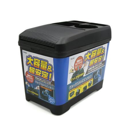 Black Plastic Car Center Console Armrest Drink Holder Storage Box Organizer