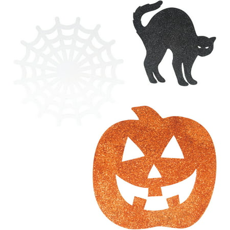 Glitter Paper Cutout Halloween Decorations, 5 in, Assorted, 6ct - Unique Halloween Arts And Crafts