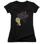 Electric Company Electric Light Juniors V-Neck Shirt