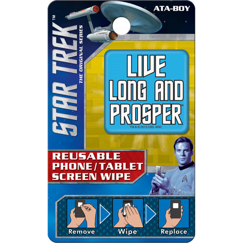 Star Trek Live Long and Prosper Reusable Phone/Tablet Screen Wipe