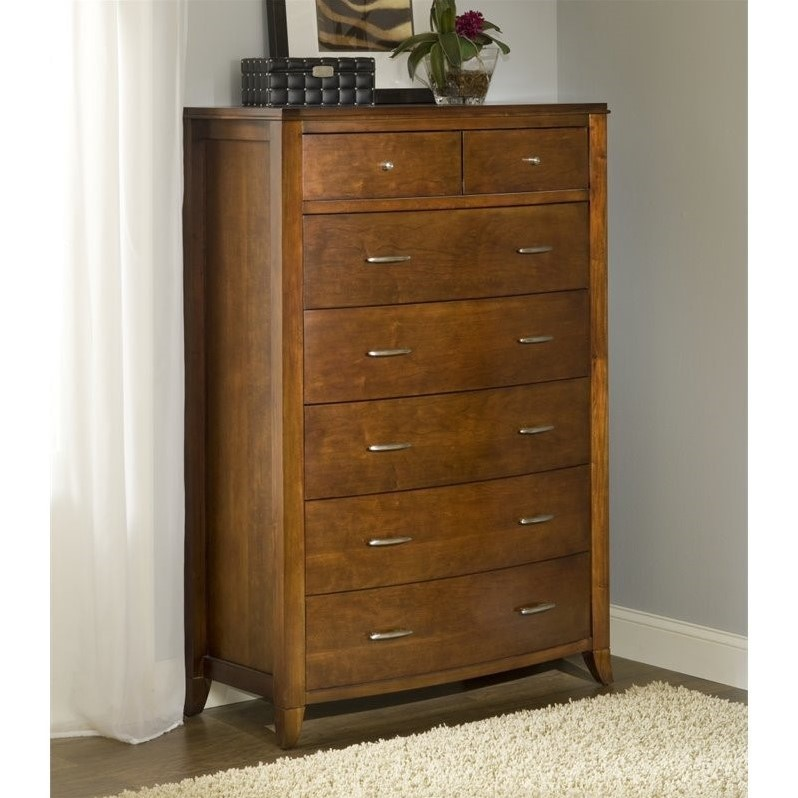Modus Brighton 7 Drawer Chest in Cinnamon Finish